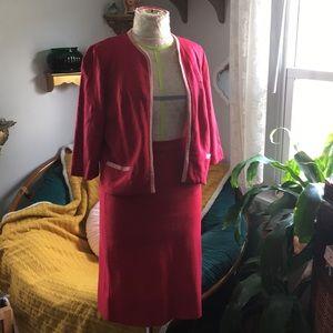 Leslie Pomer cotton suit 1960s